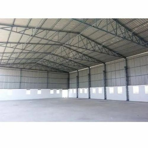 Steel Prefabricated Industrial Factory Shed, Use: Manufacturing Unit
