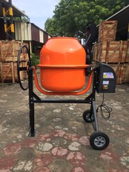 Electric Reverse Drum Mixer Hand Operated Cement Mixture Machine, For Construction, Capacity: 200 L