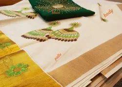 Festival Kerela Cotton Zari Woven Sarees