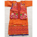 Ladies Orange Cotton Kurti