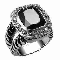 Cheap Onyx Silver Ring