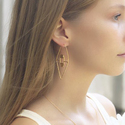 Geometric Minimalist Gold Plated Women Stud Earrings