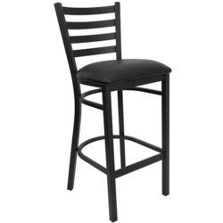 Bar Metallic Black Chair