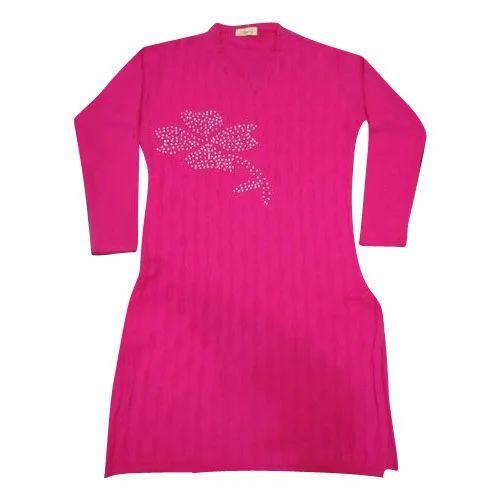02e31e7bf6d4 Ladies Pink Woolen Kurti