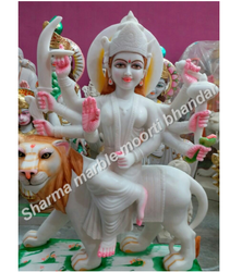 Jaipurcrafts Hindu Maa Durga Marble Statue, Packaging Type: Box, for Temple and Home