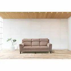 Light Brown Leather Bold Bella Camelia 3 Seater Sofa, Hall