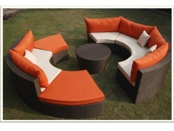 Outdoor Living Wicker Sofa