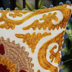 Golden Embroidery Cushion