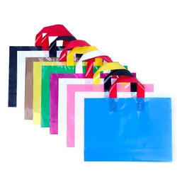 Plain Loop Handle Plastic Carry Bag, Capacity: Upto 3 Kg