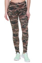 Mix Printed Camouflage Print Jeggings For Women, Size: S To Xxl
