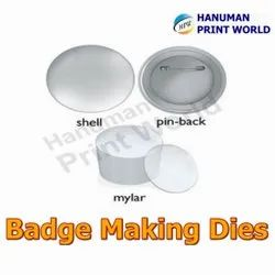 Stainless Steel Round Badge Making Dies, Packaging Type: Box