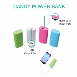 Travel Candy Power Bank 4000 mAh, Model Number: 8507, Packaging Type: Box