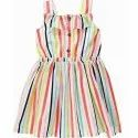 Striped Printed Sleeveless frock