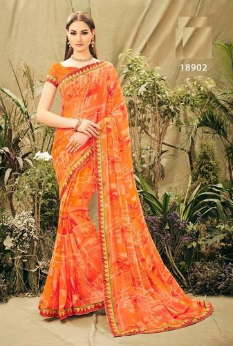 904fb89d5b Georgette Printed Designer Daily Wear Sarees, Rs 560 /piece | ID ...