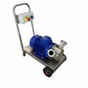 Coaxial Stainless Steel Pump With Rubber Impeller, For Industrial