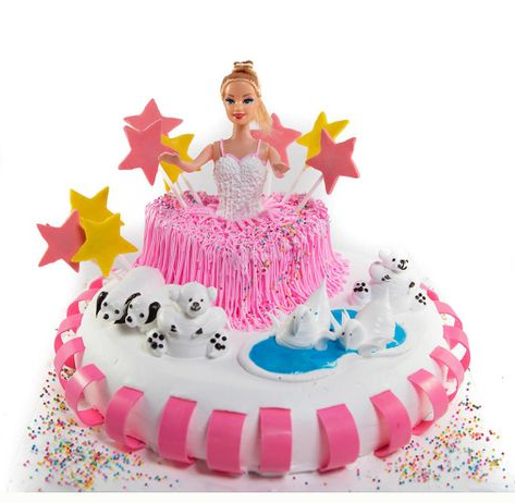 Barbie In Wonderland Cake
