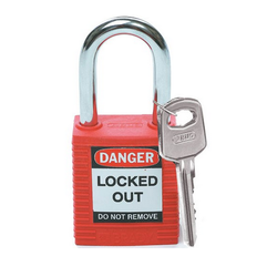 Red Premier Lockout Safety Padlocks