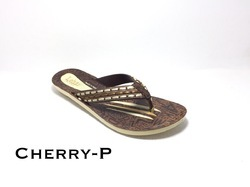 Lehar PU Flat Ladies Slipper