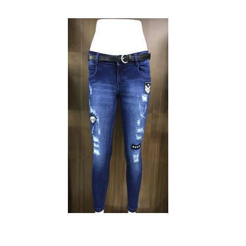 Denim Printed Women Jeans