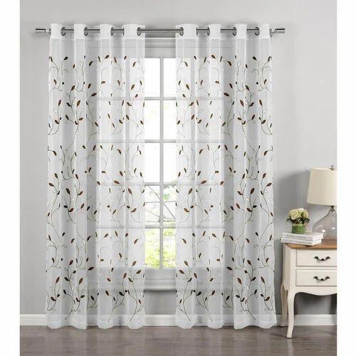 Vastrum Plain And Printed Sheer Curtains