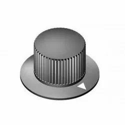 Black Bakelite Knob Round Control Fine