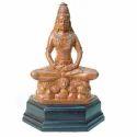 Engineered Wood Brown Lord Shiva Statue