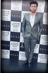 2-Piece Suit Gray Mens Suits