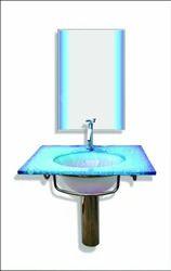 Glass Wash Basin Full Set