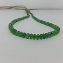 Natural Green Tsavorite Plain Smooth Beads Beaded Necklace