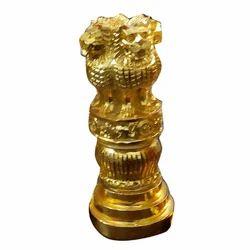 Golden 7 Inch Resin Ashoka Stambh, For Promotional Use