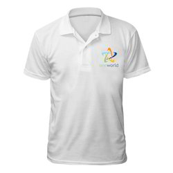 White Sublimation Collar T-Shirt