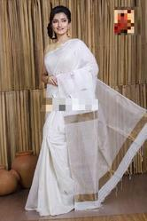 Festive Wear Jamdani Khadi Saree With Blouse Piece