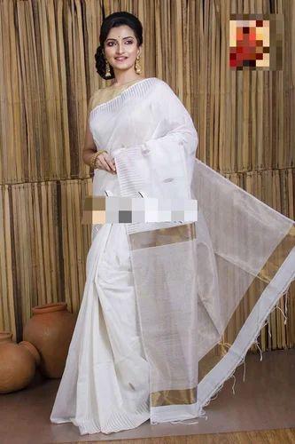Festive Wear Jamdani Khadi Saree With Blouse Piece
