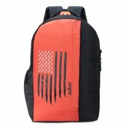 Printed Unisex LeeRooy Orange College Bag, Number Of Compartments: 2, Bag Capacity: 40 L