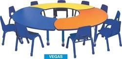 Group Discussion Detachable Table for School Play School