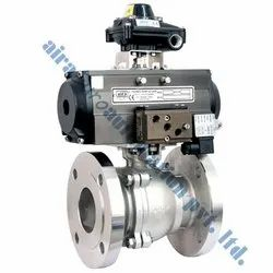 Pneumatic 2 Pc Flanged End Ball Valve