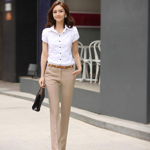 0948b685bce Cotton Ladies Office Casual Wear