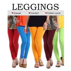 Plain Blue Ladies Four Way Stretchable Lycra Leggings