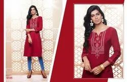 Kajree Presenting Lily Vol 14 Rayon Embroidery Work Kurti Collection