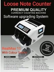 RealMax True Loose Note Counter Machine with Fake Note Detector Machines