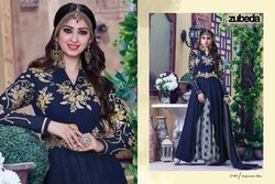 Blue Designer Georgette Anarkali Suit