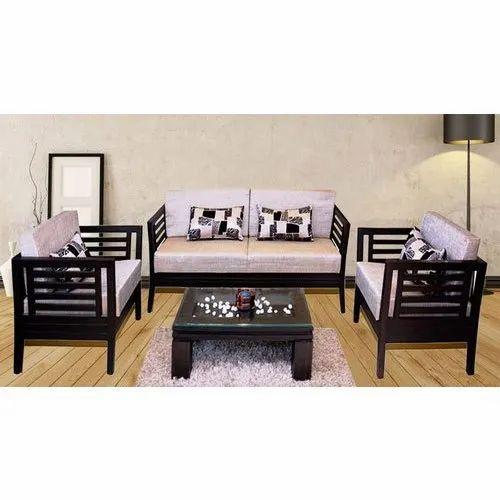 Living Room Wooden Sofa Set, Wooden Living Room Furniture Sets