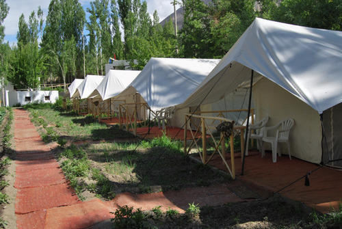 White Resort Tent