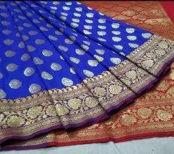 6.3 m (with blouse piece) Festive Wear Banarasi khatan silk saree