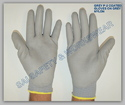 Plain Small And Medium PU Coated Hand Gloves Grey