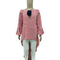 Small And Large Cotton Ladies Round Neck Top