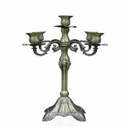 5 Arm Chrome Candle Stick