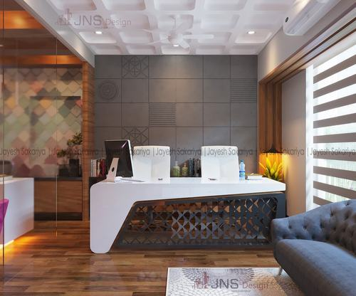 Wooden White Office Interiors Projects