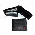 Black Mens Designer Leather Wallet