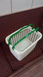 White Plastic Shopping Basket